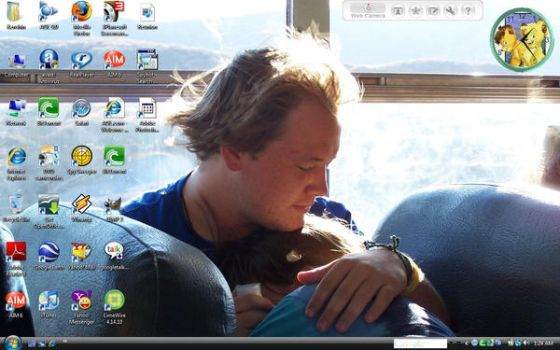 My Current Desktop-Me and Brae by HuntressGuya
