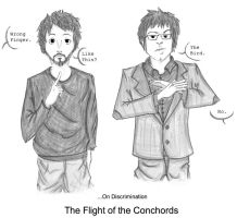 Flight of the Conchords_Bird by robinaker