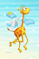 Fly Giraffe fly by Tooshtoosh