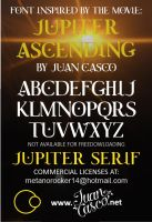 Jupiter Ascending ispired font by DarkoJuan