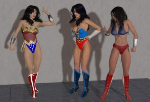 Wonder Woman meets her Homages by cattle6