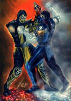 Scorpion vs. Sub-Zero by Blackknight1987