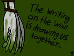 The writing on the wall by puppyland25