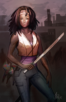 Michonne by Kafai
