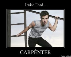 Zachary Quinto as Carpenter by CABARETdelDIAVOLO