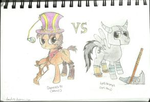 League of Legends duel by ProfessionalPuppy