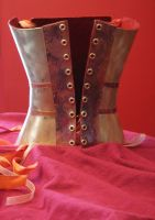 back of metal corset by Chebanse
