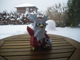 Delibird papercraft by TimBauer92