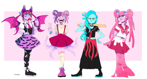 Monsters Girls by Stuppid-Bunny