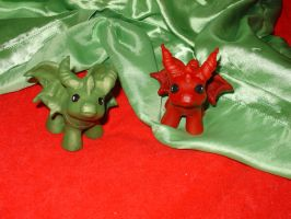 little green and red dragon by DivinityNemesis