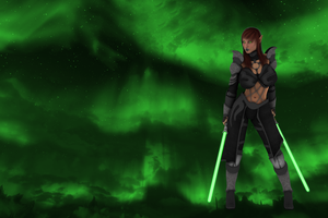 Elf with Light Sabers by Silvist