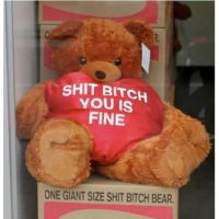 one giant size shit bitch bear by STARB0MB