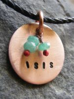 Small Isis Necklace by MoonLitCreations