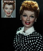I LOVE LUCY LUCILLE BALL doll repaint by noeling