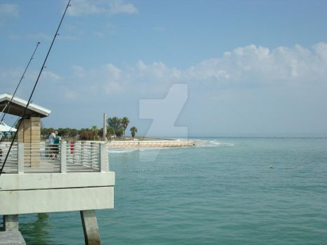 Fishing at Fort DeSoto Pier by uaigneas-nicolin