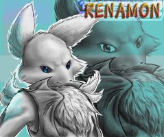 A very furry renamon Final by IceRenamon