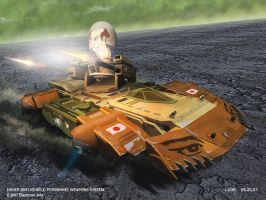 GDI AA Hovercraft concept by HeavyMetalDesigner