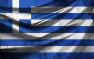 Greek Flag with Texture by metfuel
