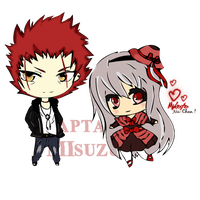 Chibi - Anna Kushina ~ Mikoto Suoh [ K Project ] by CaptainMisuzu