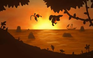 Speed Paint - 07 - DK Sunset by Art-by-Smitty