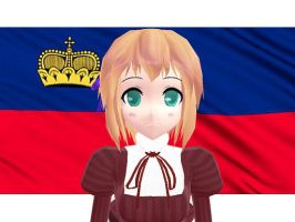 MMD Hetalia model:Liechtenstein by Ash080897