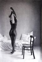 Nude Charcoal Drawing by LordSnooty