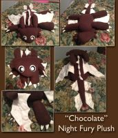 'Chocolate' Night Fury Plush [SOLD] by Dragowl