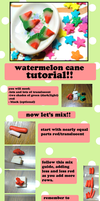 Watermelon Cane Tutorial by GrandmaThunderpants