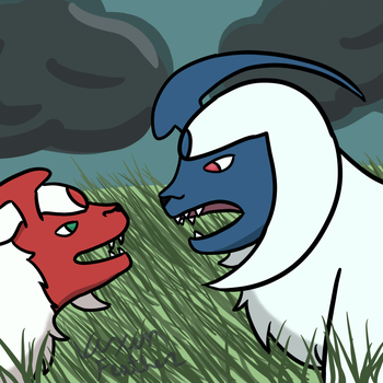 Absol drawing two by VixenFeather