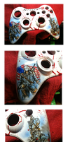 assassins creed hand painted xbox controller by chrisfurguson