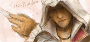 Ezio on FB Graffiti by jying072