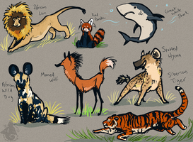 Animal Caracatures by DyslexicDesert