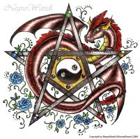 Pentagram with dragon by NegraWaridi