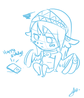 Chibi Clair Doodle by AudioHeist