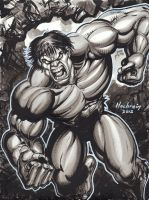 HULK INK WASH PINUP by AHochrein2010