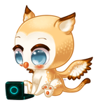 Gryphon Chibi Commission by Kattling