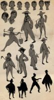 Character Design Thumbnails by stupah