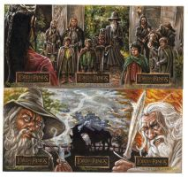 LOTR 3-card sets for TOPPS by RayDillon