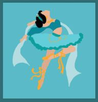 Disney Ballerina: Jasmine by middleR3DD