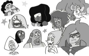 Steven Universe Faces For Fun by MommaCabbit