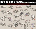 How to draw hands from many views by GrayHood