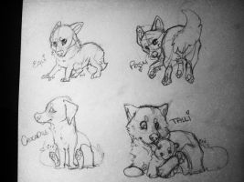 Caz tag sketches 1-4 of 6 by TheyCallDaWindMariah