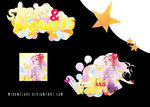Stars n' flowers tagwall by MikoneLOVE