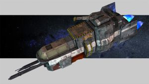 Outer Empires mining ship by DrMonkeyface