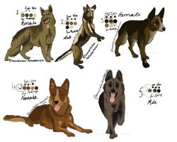 German Shepherd Dog Adopts - CLOSED by HannahLouLou