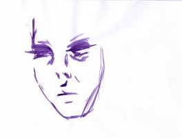 Purple Ink Series - Face 4 by letmeusemyname