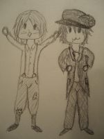 Aiba and Nino 1920's chibis by weepingwilows