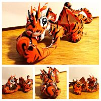 Playful Tiger Dragon by LittleCLUUs