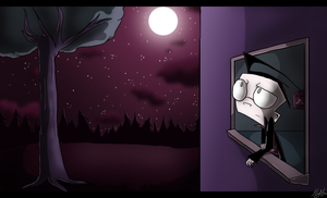 Lonely Nights by Invader--ZIM
