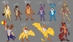 KaoKao Adopts Batch #6 [CLOSED] - FNAF Theme by TabithaKattoa